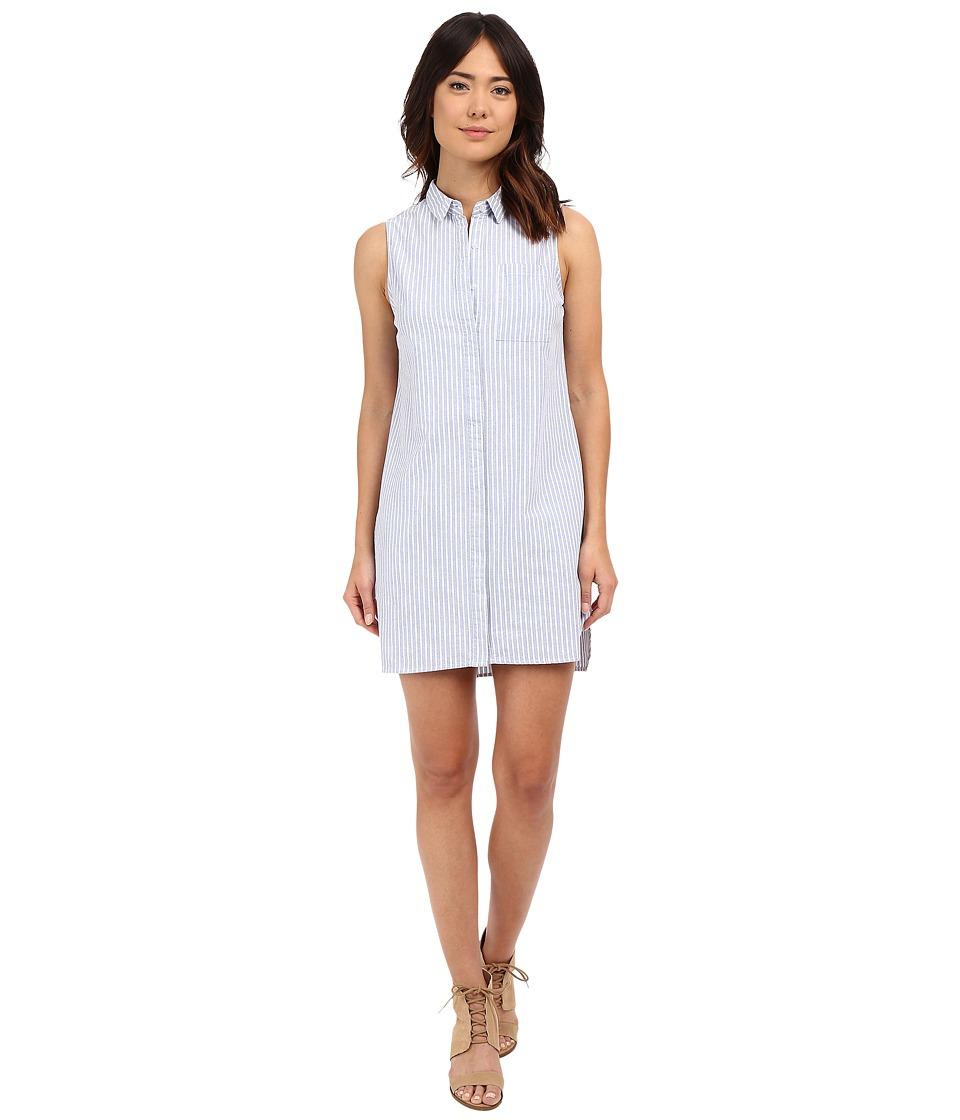 Brigitte Bailey - Davan Button Front Dress (Blue) Women's Dress