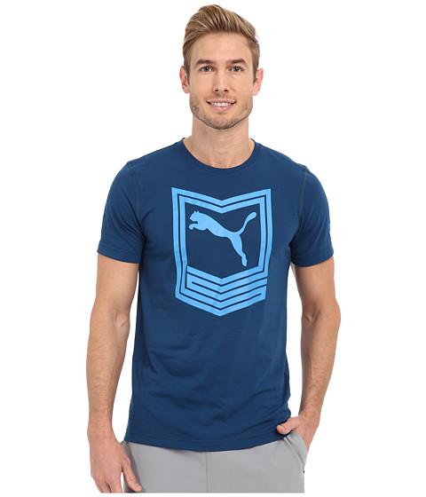 PUMA - Chevron Tee (Poseidon) Men's Short Sleeve Pullover