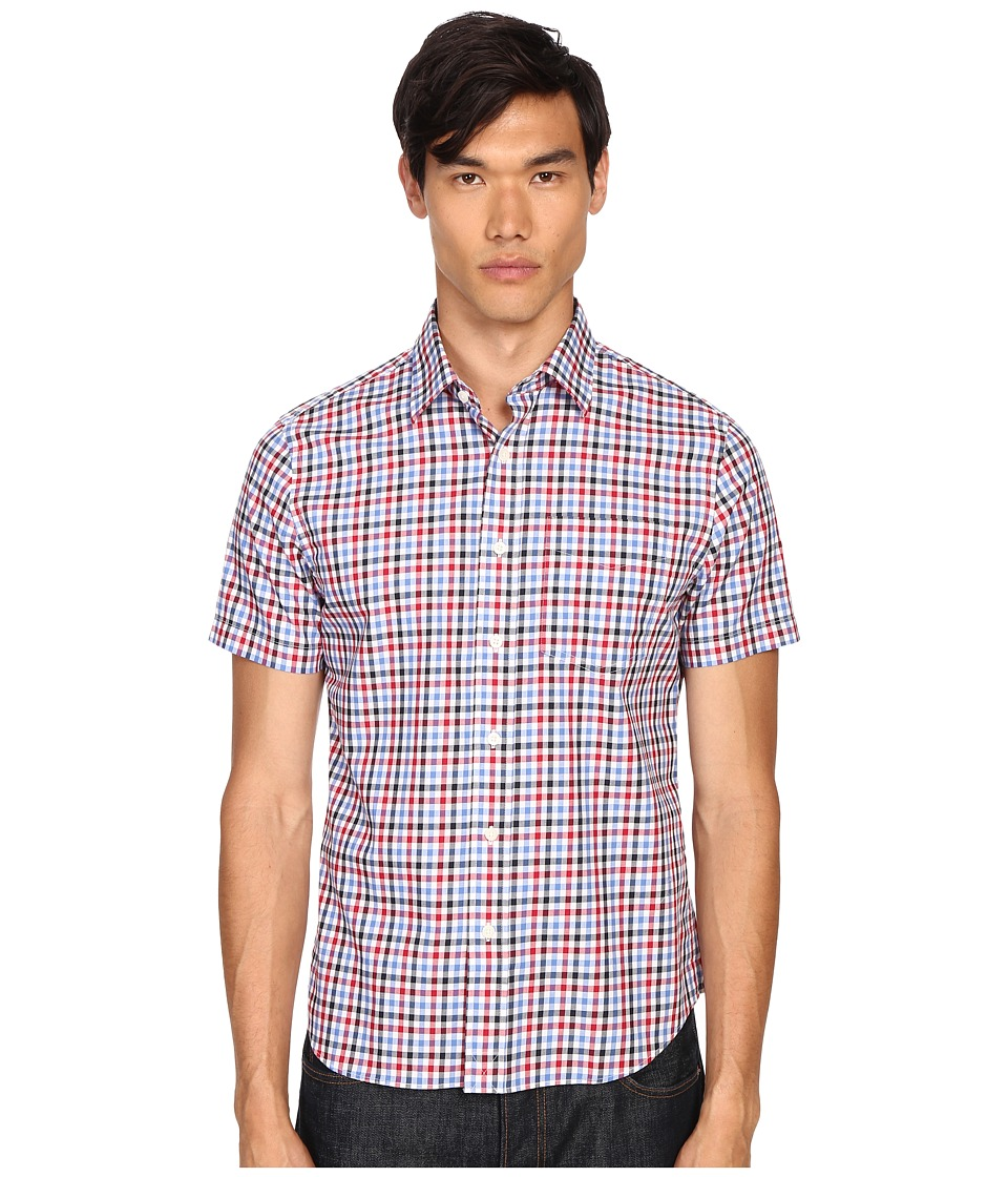 Jack Spade - Clift Short Sleeve Point Collar Shirt (Red) Men's Short Sleeve Button Up