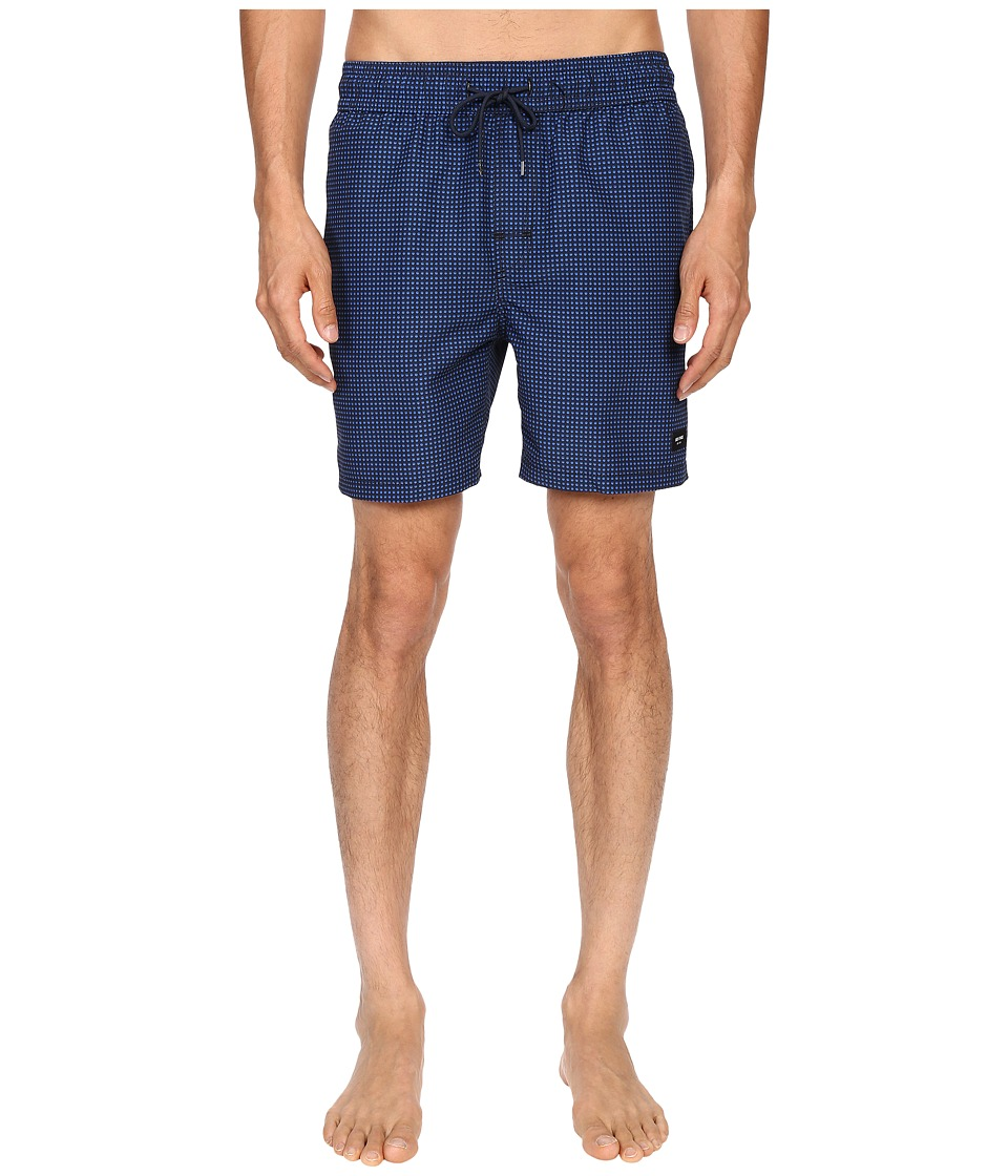Jack Spade - Filled Dot Swim Trunk (Blue) Men's Swimwear