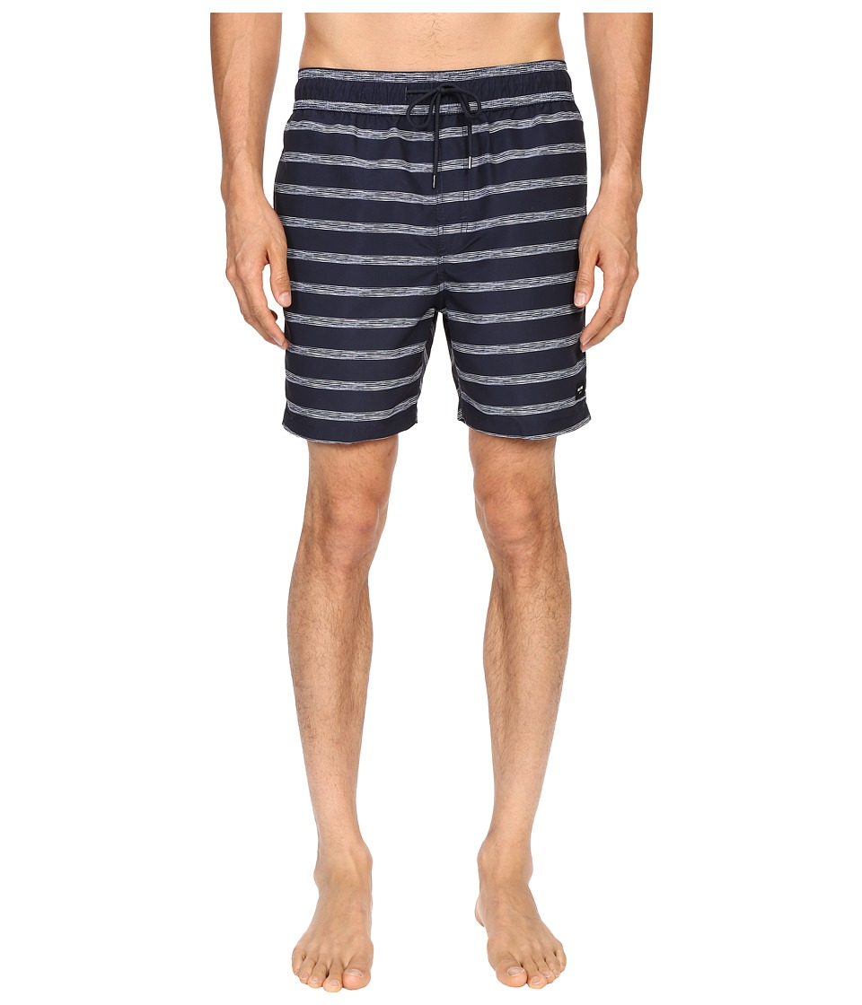 Jack Spade Drawn Striped Swim Trunk (Navy) Men