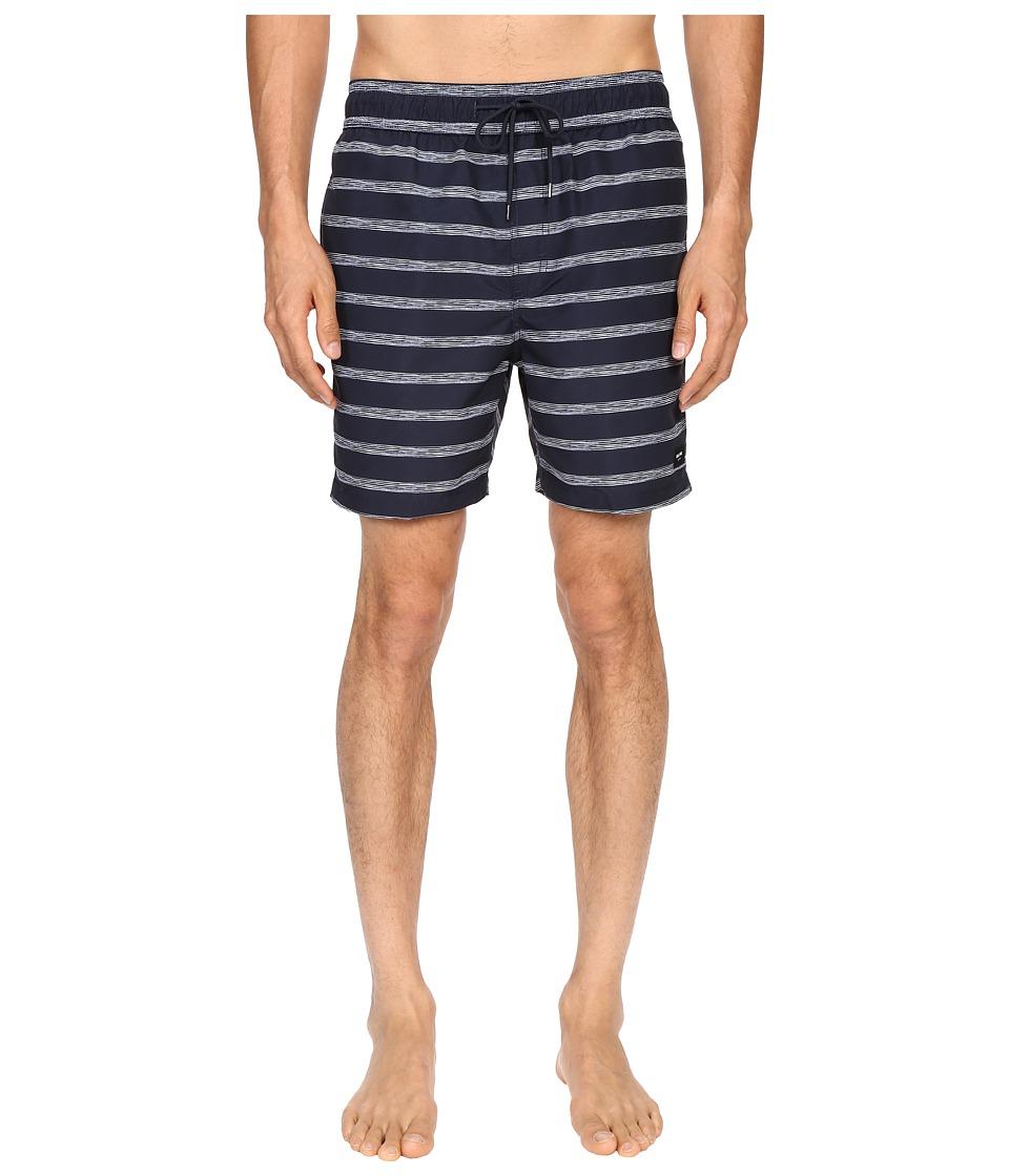Jack Spade - Drawn Striped Swim Trunk (Navy) Men's Swimwear