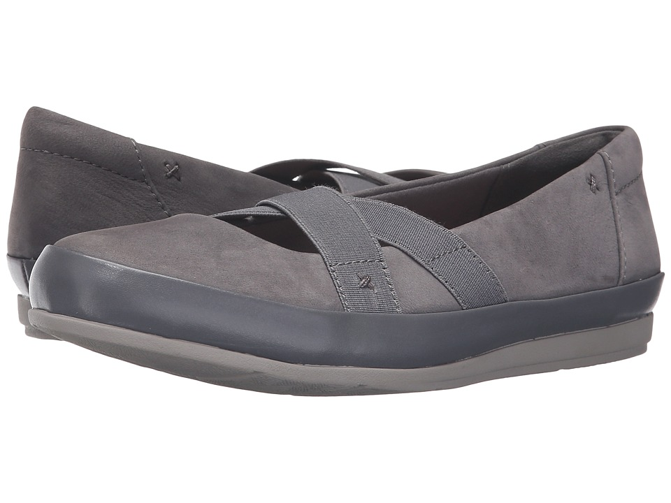 Clarks - Lorry Lucent (Grey Nubuck/Leather Combo) Women's Shoes