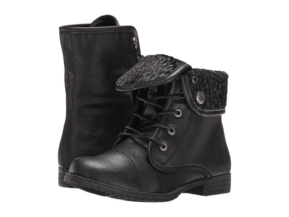 Blowfish Kids - Tarina-K (Little Kid/Big Kid) (Black Old Ranger PU/Spotted Pup) Girl's Shoes