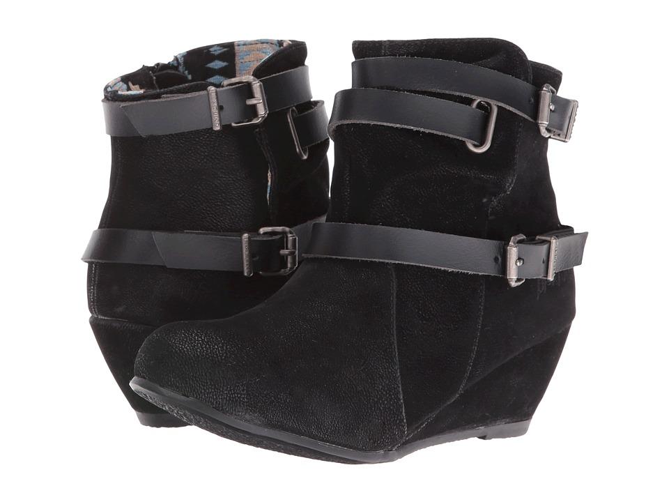 Blowfish Kids - Bull-K (Little Kid/Big Kid) (Black Fawn PU/Black Pisa PU) Girl's Shoes