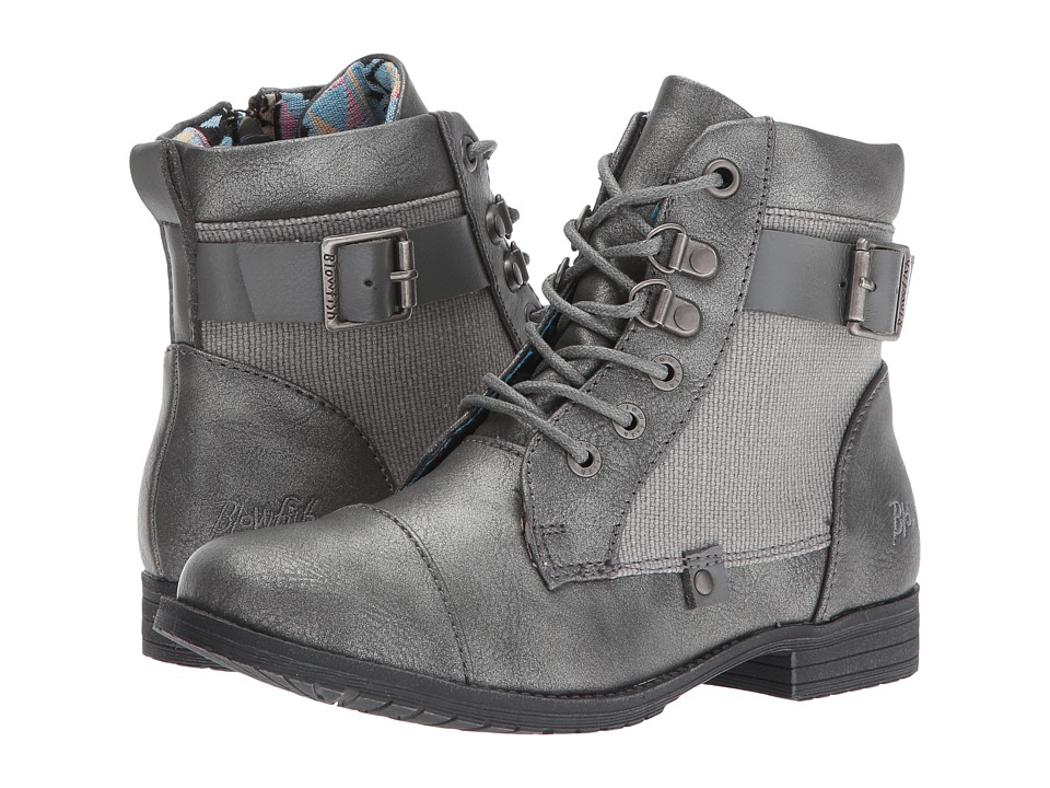 Blowfish Kids - Topot-K (Little Kid/Big Kid) (Pewter Me Glove/Steel Grey Rancher/Steel Grey Dyecut) Girl's Shoes