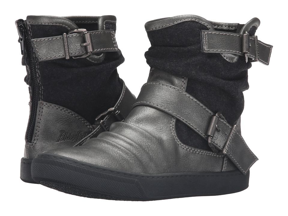 Blowfish Kids - Pring-K (Little Kid/Big Kid) (Pewter Metallic Glove/Black Two-Tone Flannel) Girl's Shoes