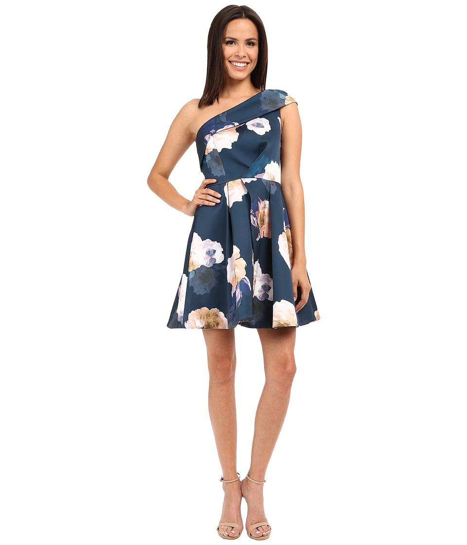 KEEPSAKE THE LABEL - Cold Shoulder Mini Dress (Dark Faded Floral) Women's Dress