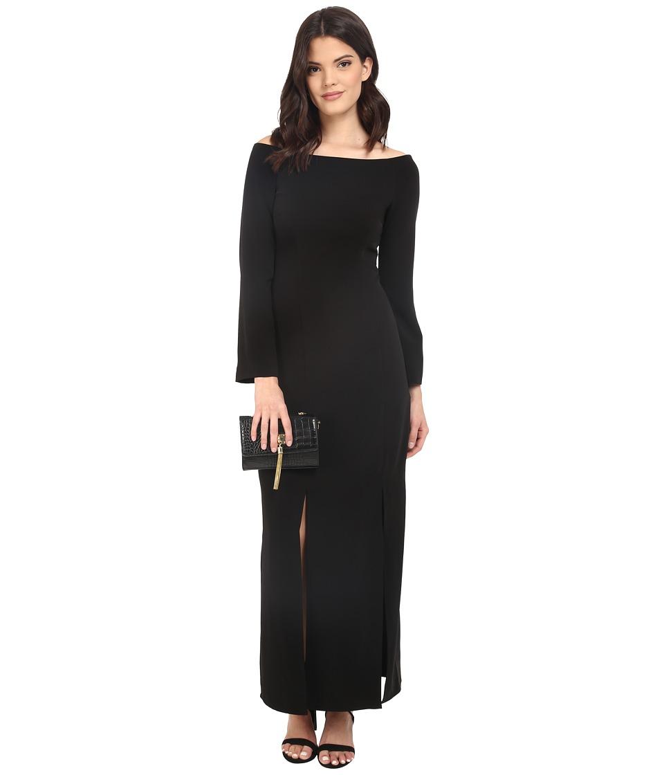KEEPSAKE THE LABEL - Heartlines Long Sleeve Maxi Dress (Black) Women's Dress
