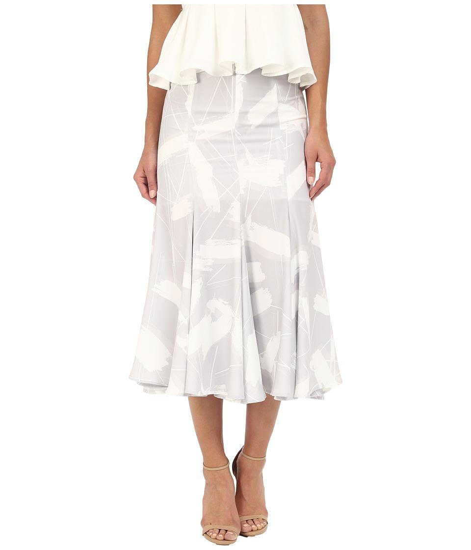 KEEPSAKE THE LABEL - Sun Up Skirt (Brush Stroke Paint) Women's Skirt
