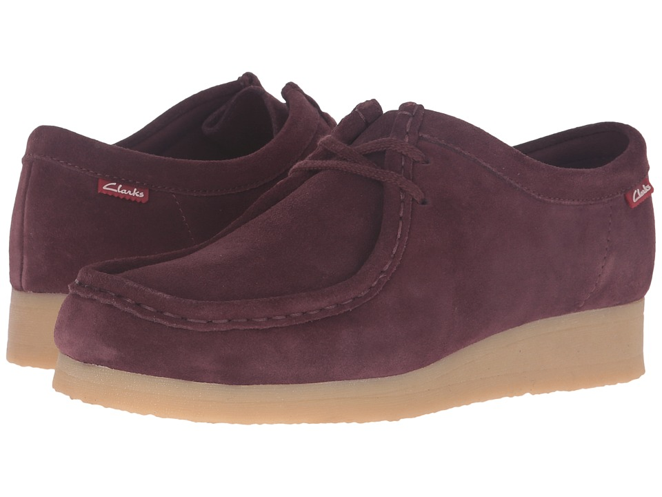 Clarks - Padmora (Burgundy Suede) Women's Shoes