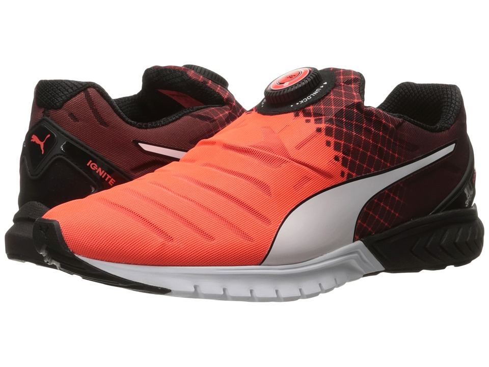 PUMA - Ignite Dual Disc (Red Blast/Puma Black/Puma White) Men's Running Shoes
