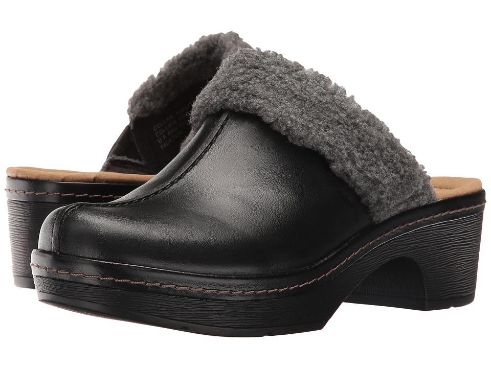 Clarks - Preslet Grove (Black Leather) Women's Shoes
