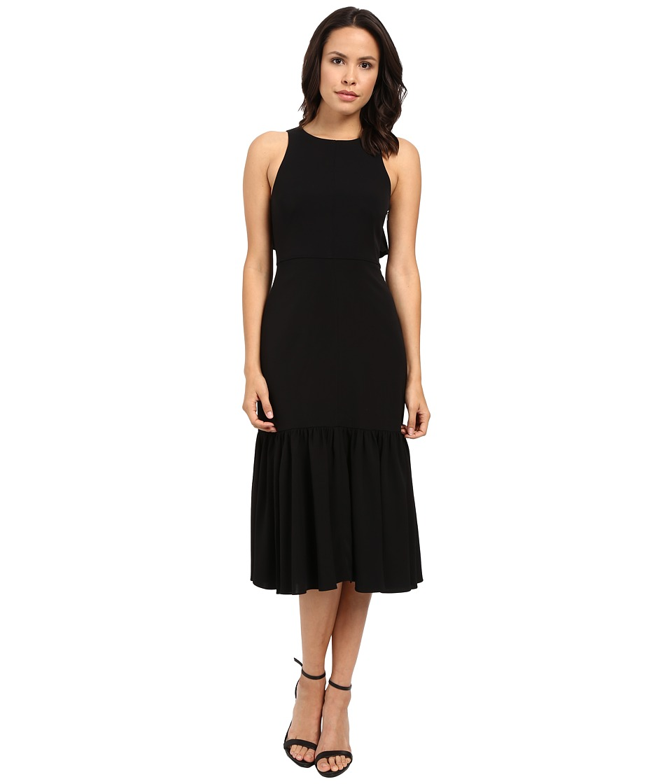 Rebecca Taylor - Stretch Silk Blend Sleeveless Gown (Black) Women's Dress