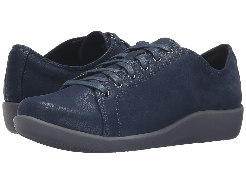 Clarks - Sillian Glory (Blue Synthetic) Women's Shoes