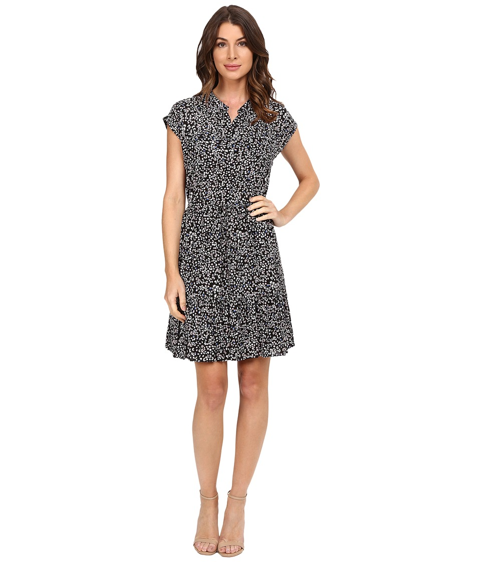 Rebecca Taylor - Mini Pop Flower Print Dress (Black Combo) Women's Dress