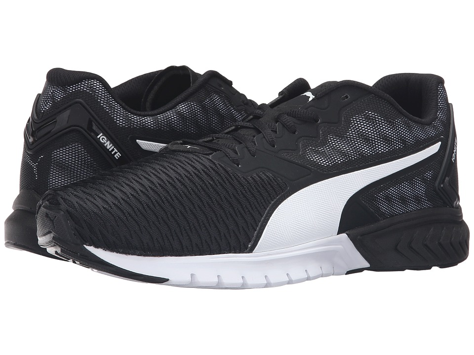 PUMA - Ignite Dual (Puma Black/Puma White) Men's Running Shoes