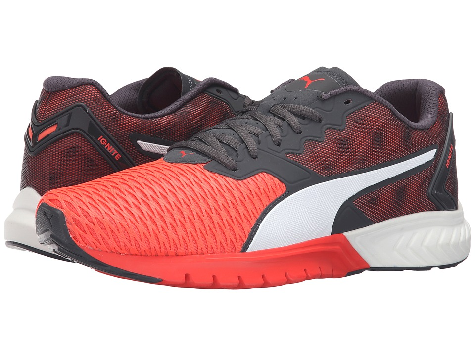 PUMA - Ignite Dual (Red Blast/Asphalt) Men's Running Shoes