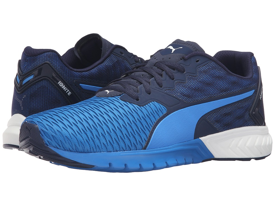 PUMA - Ignite Dual (Peacoat/Electric Blue Lemonade) Men's Running Shoes