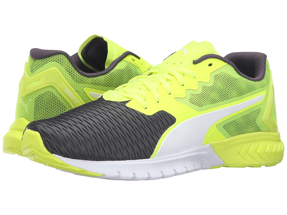 PUMA - Ignite Dual (Safety Yellow/Asphalt) Men's Running Shoes