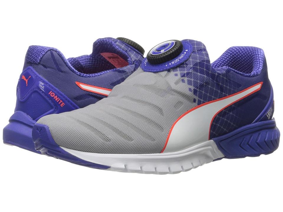 PUMA - Ignite Dual Disc (Quarry/Royal Blue/Puma White) Women's Running Shoes