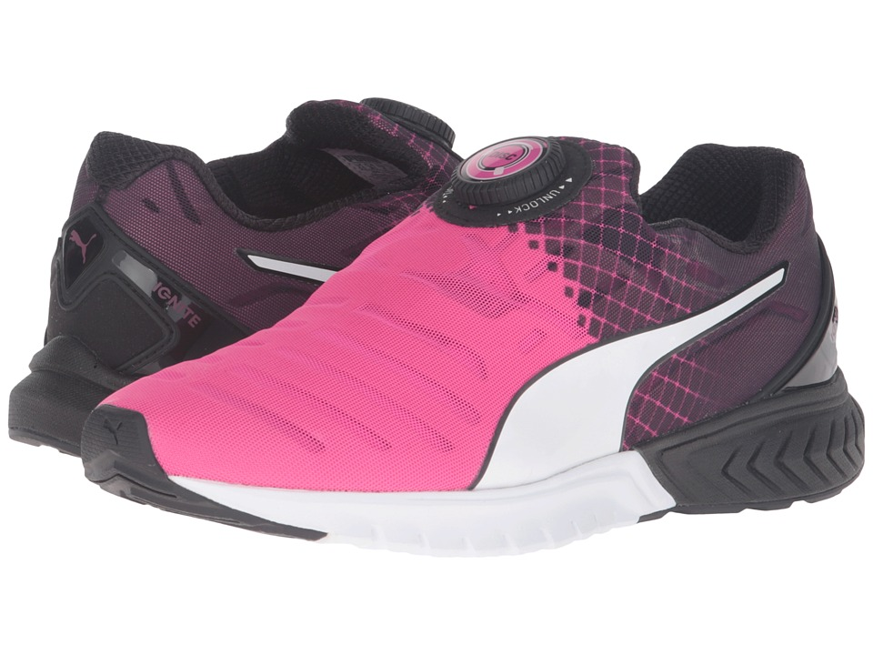 PUMA - Ignite Dual Disc (Pink Glow/Puma Black/Puma White) Women's Running Shoes