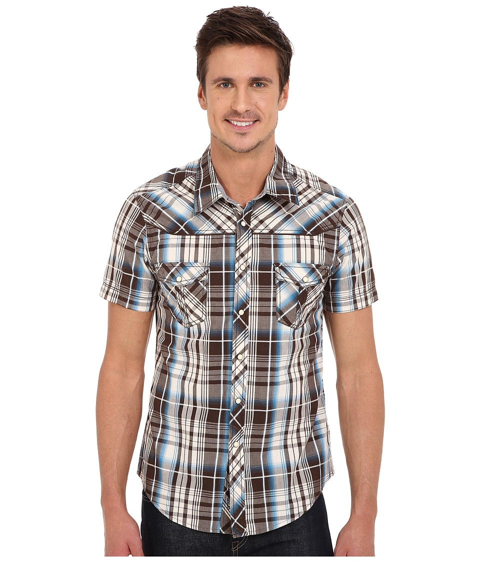 Rock and Roll Cowboy - Short Sleeve Snap B1S6263 (Turquoise) Men's Short Sleeve Button Up