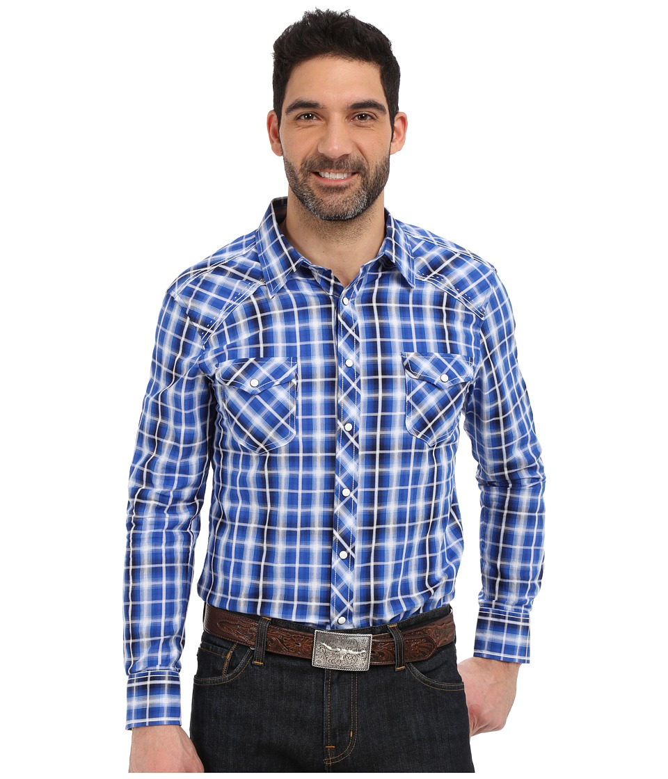 Rock and Roll Cowboy - Long Sleeve Snap B2S6269 (Blue) Men's Long Sleeve Button Up