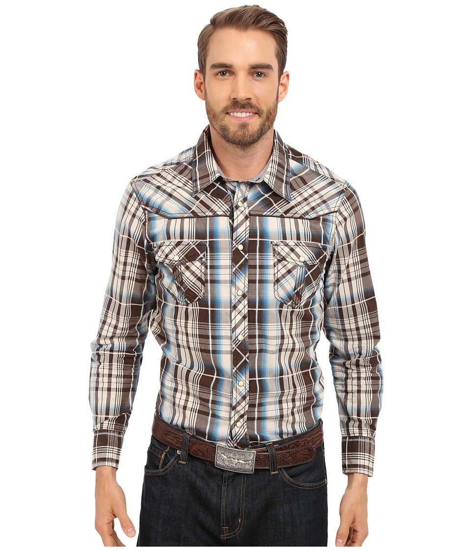 Rock and Roll Cowboy - Long Sleeve Snap B2S6263 (Turquoise) Men's Clothing