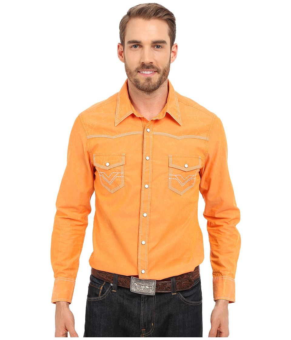 Rock and Roll Cowboy - Long Sleeve Snap B2S6287 (Orange) Men's Clothing