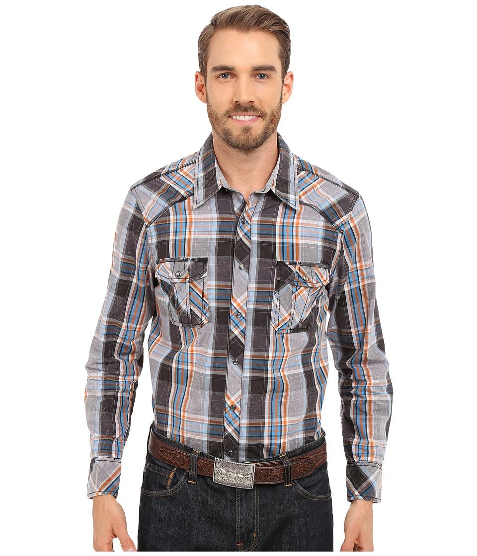 Rock and Roll Cowboy - Long Sleeve Snap B2S6274 (Grey) Men's Clothing