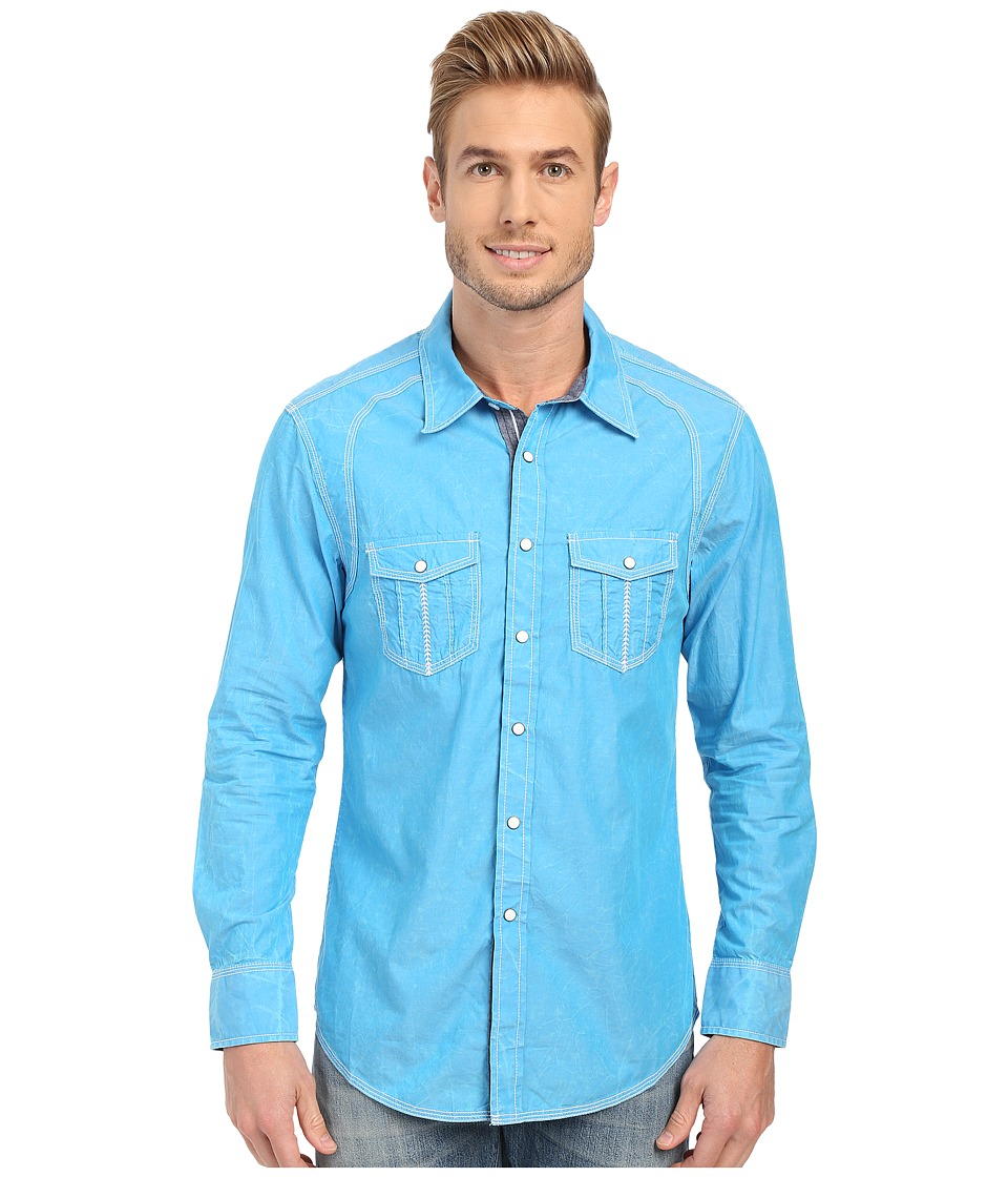 Rock and Roll Cowboy - Long Sleeve Snap B2S6286 (Turquoise) Men's Long Sleeve Button Up