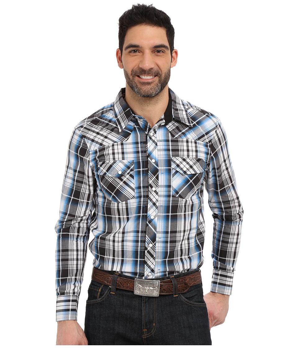 Rock and Roll Cowboy - Long Sleeve Snap B2S6270 (Blue) Men's Long Sleeve Button Up