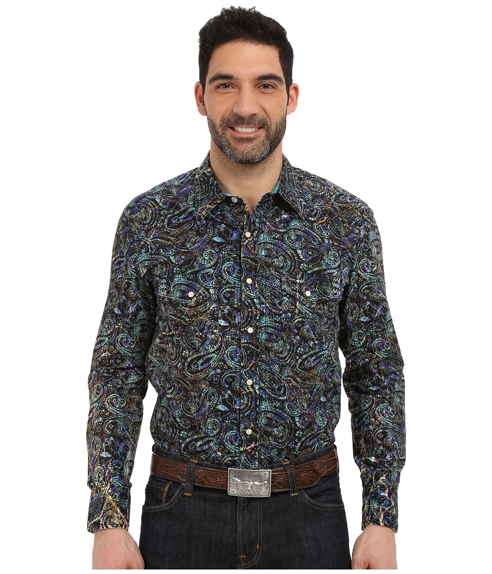 Rock and Roll Cowboy - Long Sleeve Snap B2S6285 (Green) Men's Long Sleeve Button Up