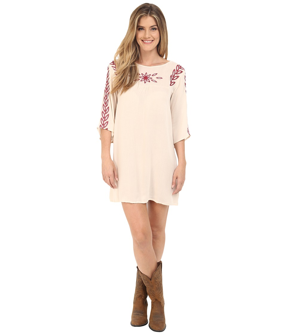 Rock and Roll Cowgirl - Long Sleeve Dress D4-6727 (Natural) Women's Dress