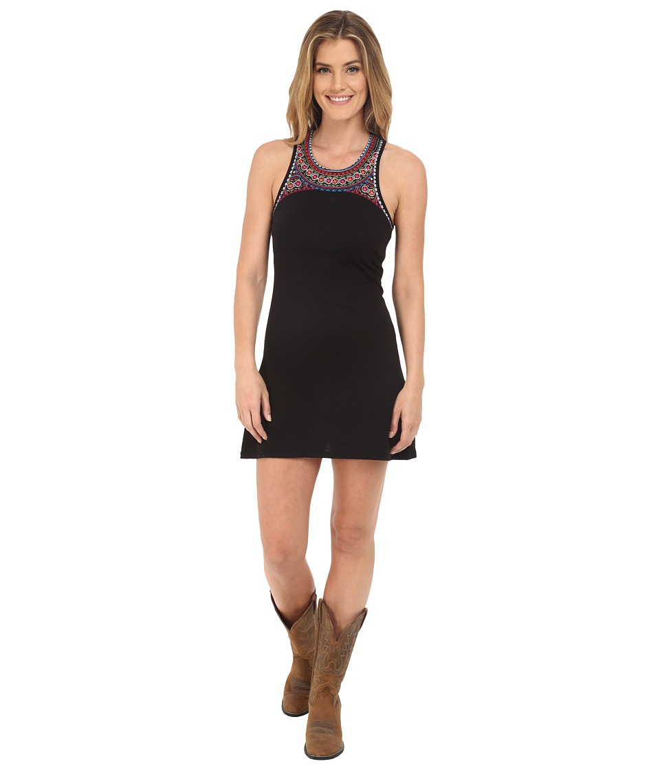 Rock and Roll Cowgirl - Sleeveless Dress 19-6716 (Black) Women's Dress