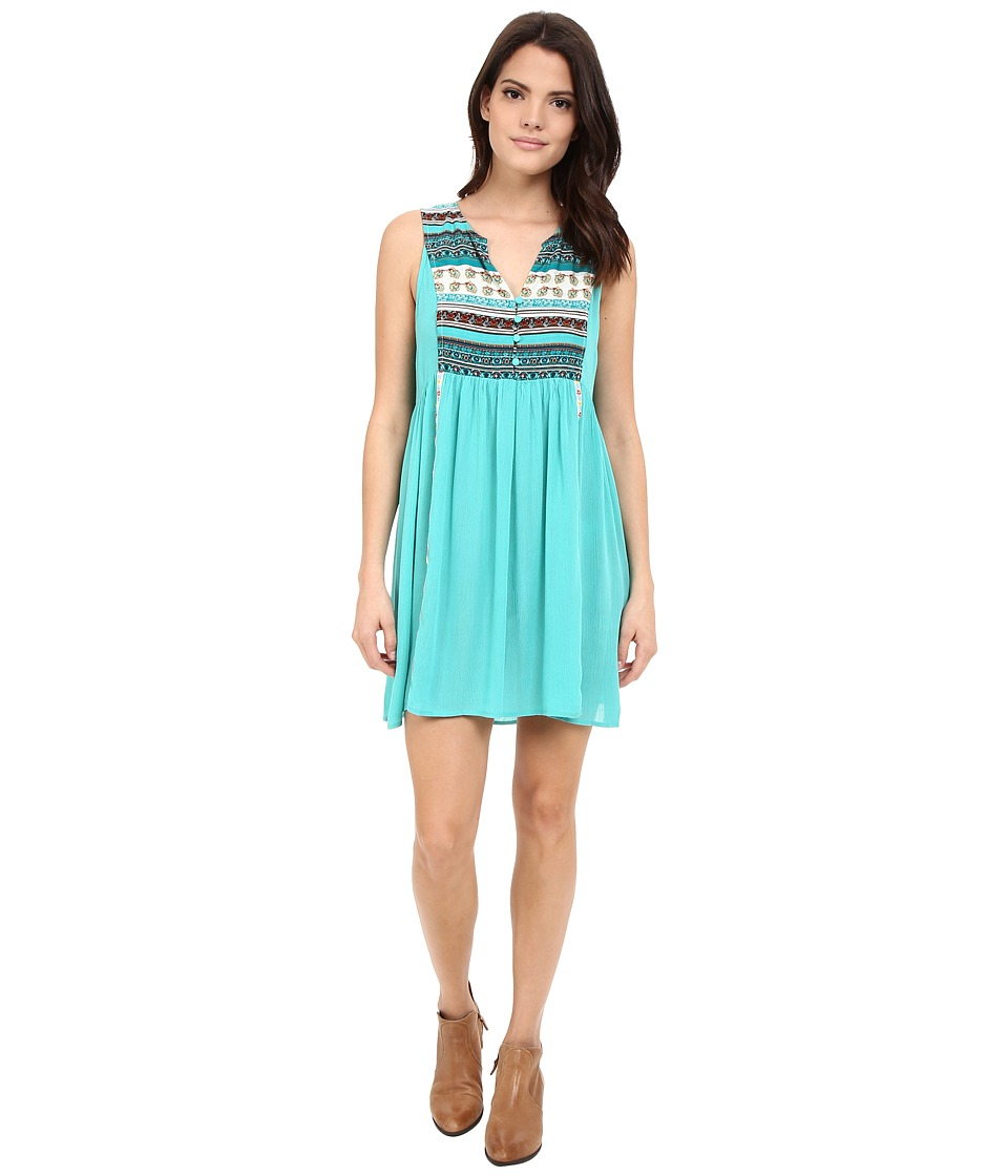 Rock and Roll Cowgirl - Sleeveless Dress D4-6733 (Teal) Women's Dress