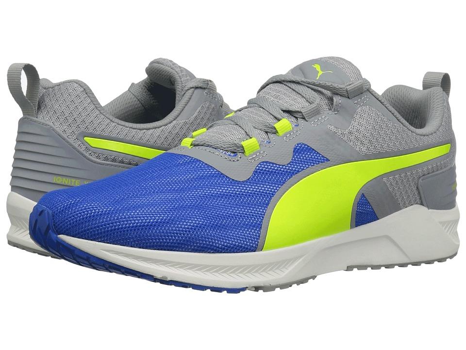 PUMA - Ignite XT V2 (Electric Blue Lemonade/Quarry/Safety Yellow) Men's Running Shoes