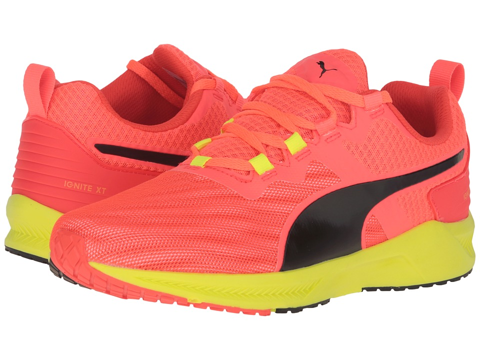 PUMA - Ignite XT V2 (Red Blast/Safety Yellow) Men's Running Shoes