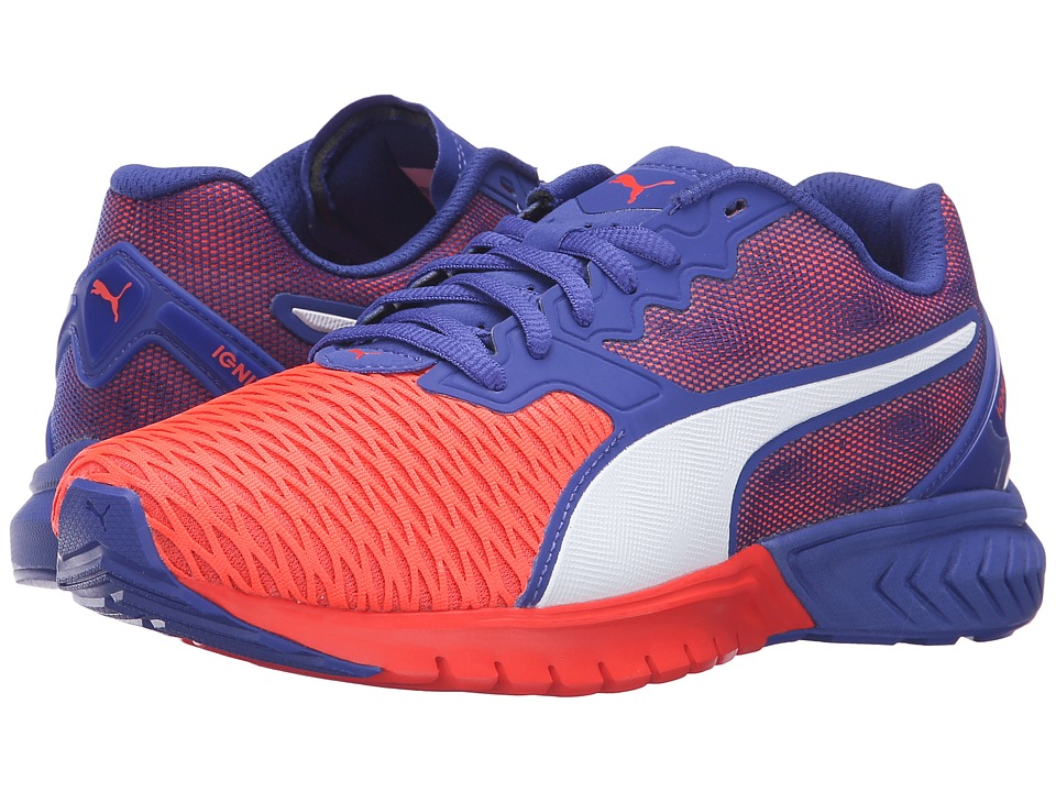 PUMA - Ignite Dual (Red Blast/Royal Blue) Women's Running Shoes