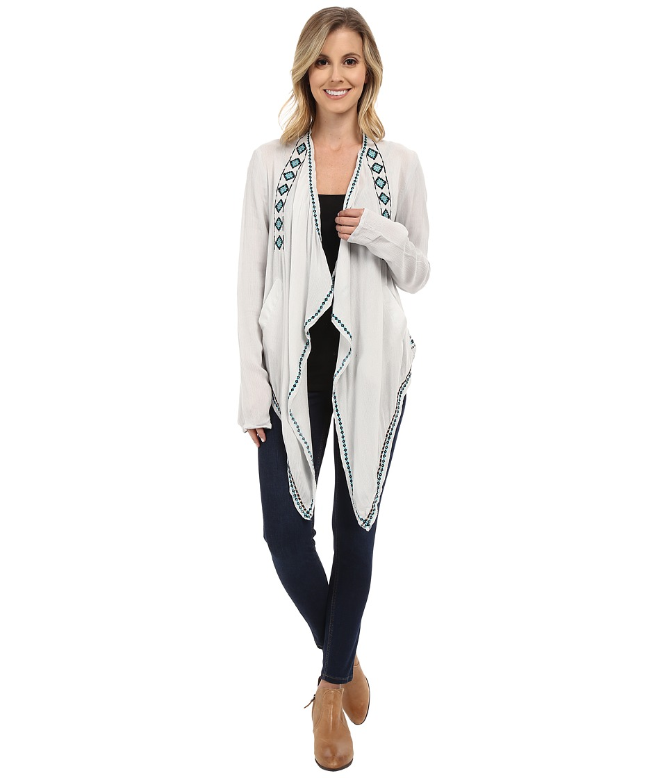 Rock and Roll Cowgirl - Long Sleeve Cardigan B4-6405 (Silver) Women's Sweater