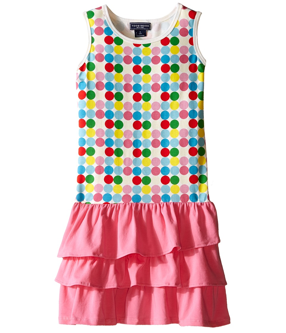 Toobydoo - Ruffle Tank Dress (Toddler/Little Kids/Big Kids) (Green/Blue/Red/Yellow/White Dot/Pink Skirt) Girl's Dress
