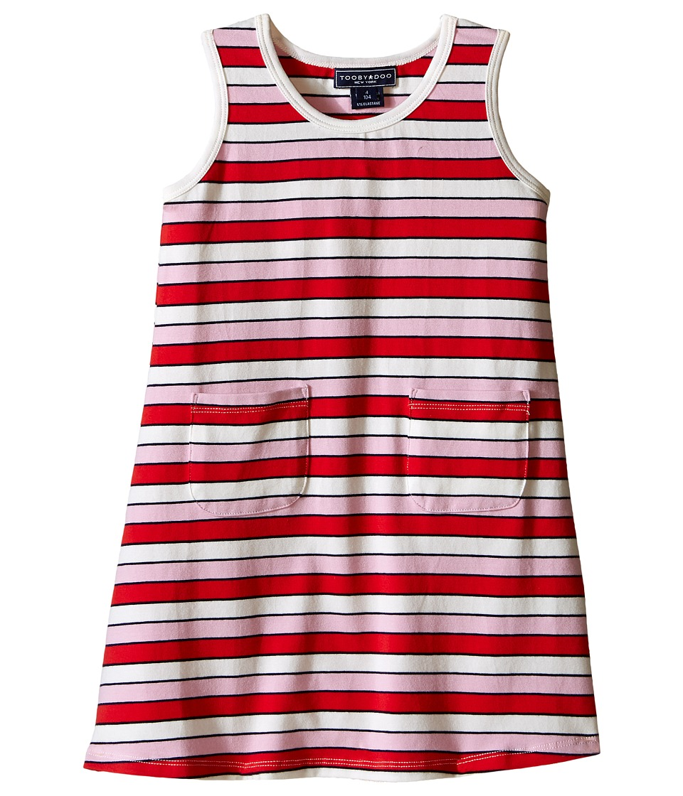Toobydoo - Tank Dress Multi Pink Stripe (Infant/Toddler) (Red/Pink/White) Girl's Dress