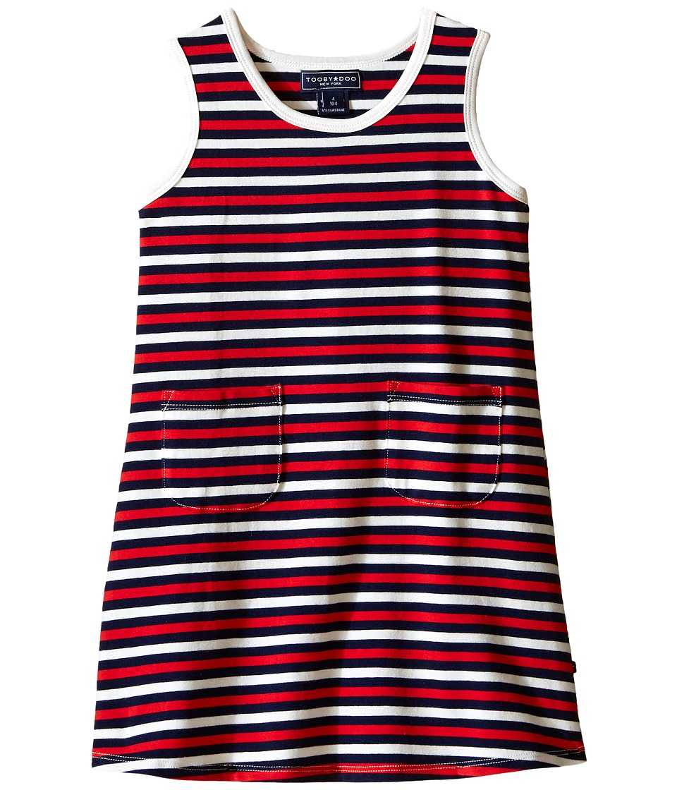 Toobydoo - Tank Dress Navy/Red/White Stripe (Infant/Toddler) (Red/Navy/White) Girl's Dress