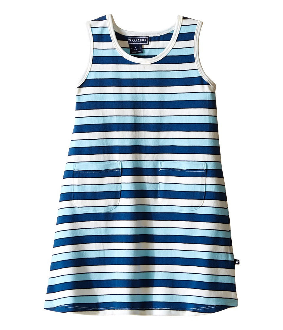 Toobydoo - Tank Dress Multi Blue Stripe (Infant/Toddler) (Navy/White/Blue) Girl
