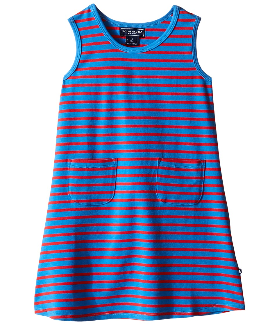 Toobydoo - Tank Dress Royal Blue/Red Stripe (Infant/Toddler) (Royal Blue/Red) Girl's Dress