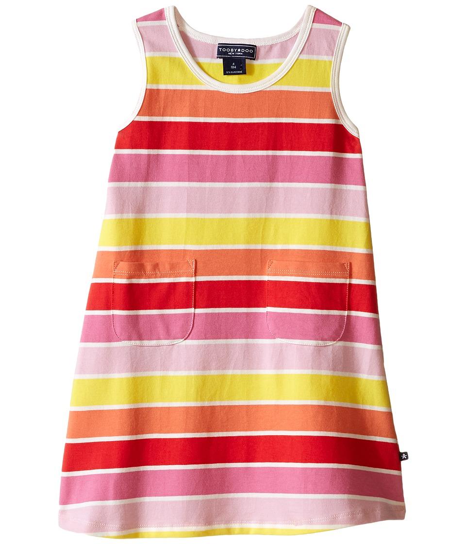 Toobydoo - Tank Dress Multi Stripe (Infant/Toddler) (Yellow/Orange/Red/Pink) Girl's Dress