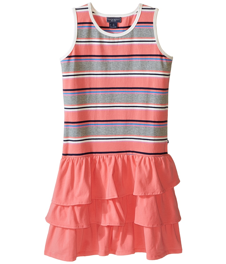 Toobydoo - Ruffle Tank Dress (Toddler/Little Kids/Big Kids) (Red/Navy/White/Blue/Pink/Gray/Navy Ruffle Skirt) Girl's Dress