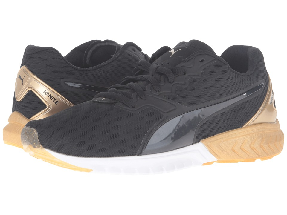 PUMA - Ignite Dual Gold (Puma Black/Gold) Women's Running Shoes