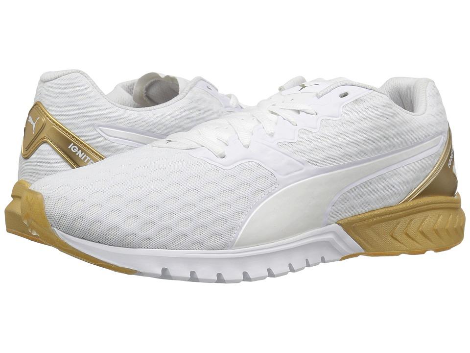 PUMA - Ignite Dual Gold (Puma White/Gold) Women's Running Shoes